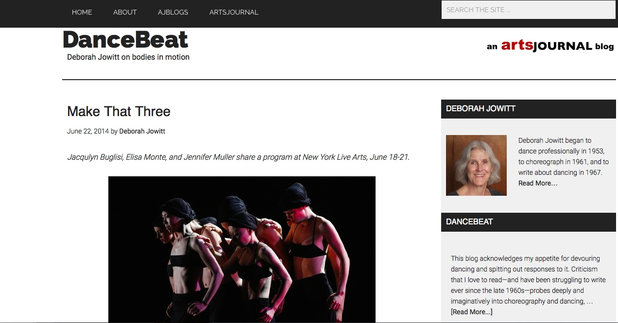 Deborah Jowitt review for Dance Beat