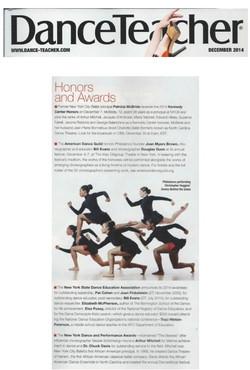 AMERICAN DANCE GUILD IN DANCE TEACHER MAGAZINE