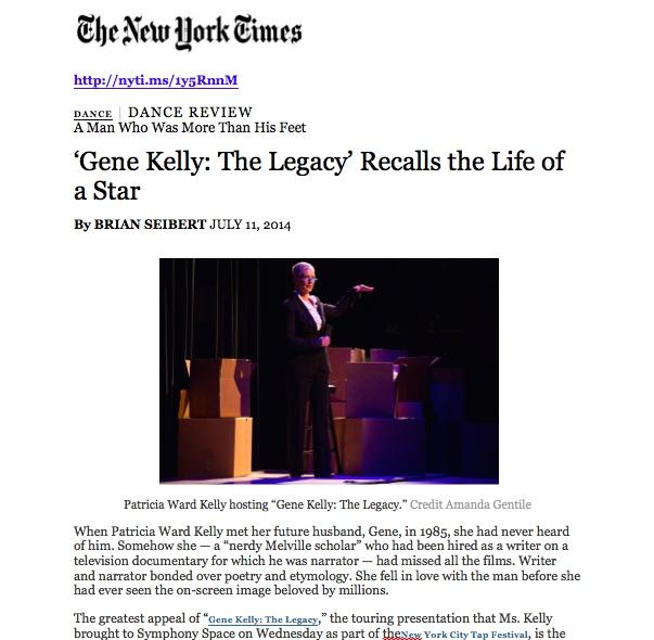 Gene Kelly review - seibert NYT