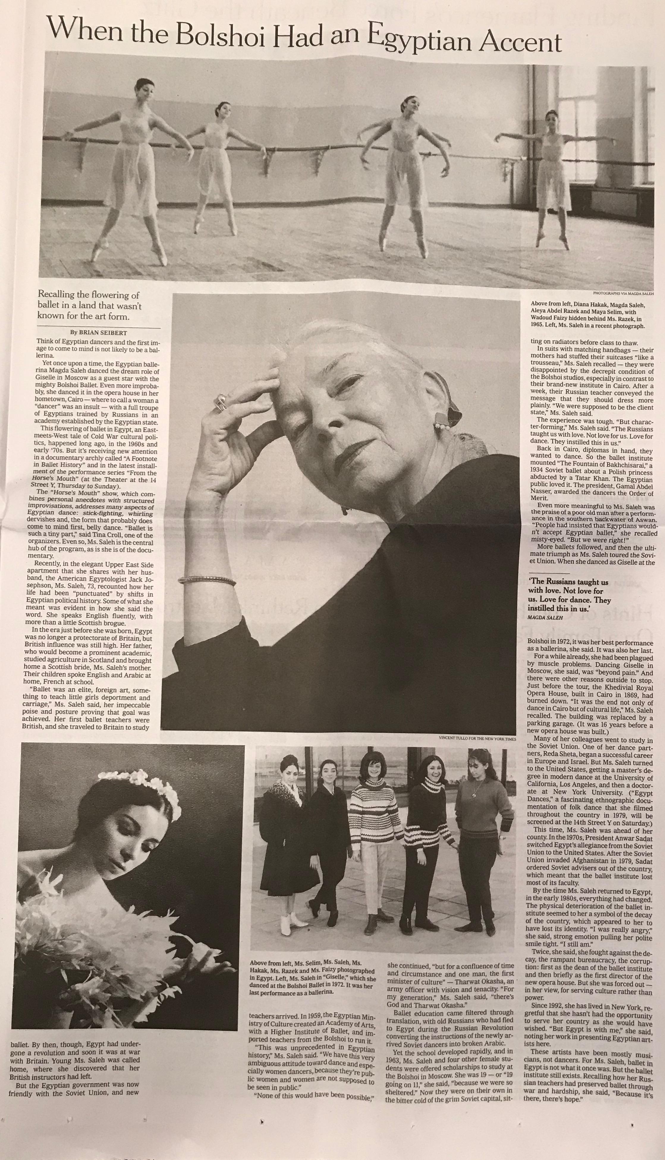NY TIMES ARTS Full Page 3-14-18