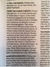 NYTimes listings - Clark Center tribute Oct, 2015