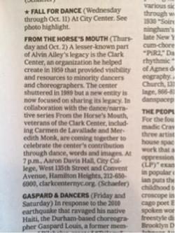 NYTimes listings - Clark Center tribute Oct, 2015