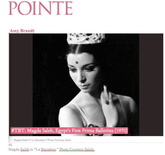 Pointe Magazine - From the Horse's Mouth Egyptian Dance