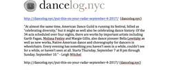 American Dance Guild advance