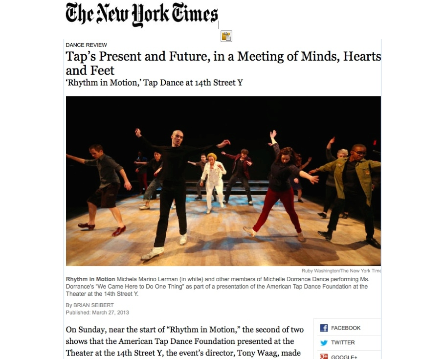 NYTimes review-Rhythm in Motion