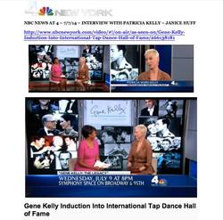 Patricia Kelly interviewed NBC-TV