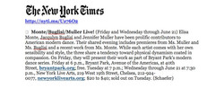 NY Times -Monte/Buglisi/Muller Live!