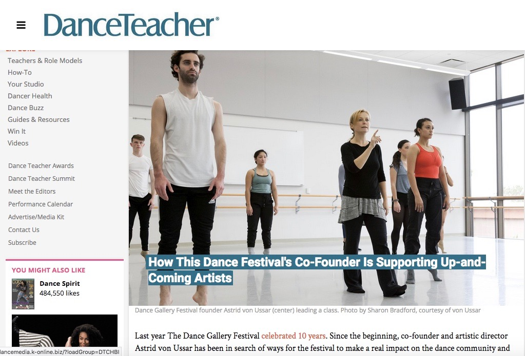 Dance Gallery Festival profile - Dance Teacher Magazine