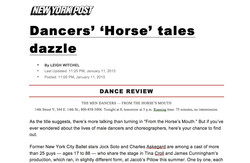 NY POST LEIGH WITCHEL Reviews -  HORSE'S MOUTH