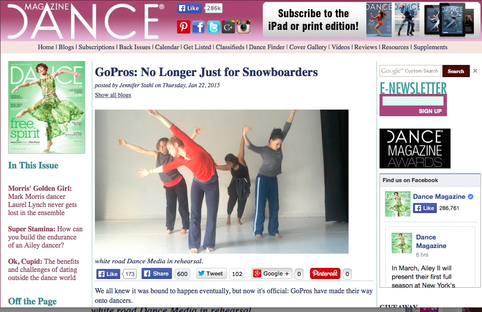 DANCE MAG BLOG - WHITE ROAD DANCE MEDIA