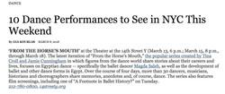 NYTimes Dance Listings 3-9-18