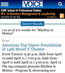 Village Voice - Rhythm in Motion