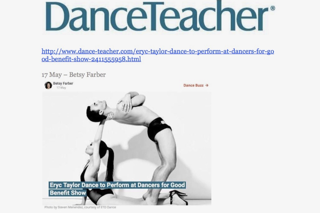 "Eryc Taylor Dance in ""Dance Teacher"""