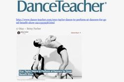 """Eryc Taylor Dance in """"Dance Teacher"""""""