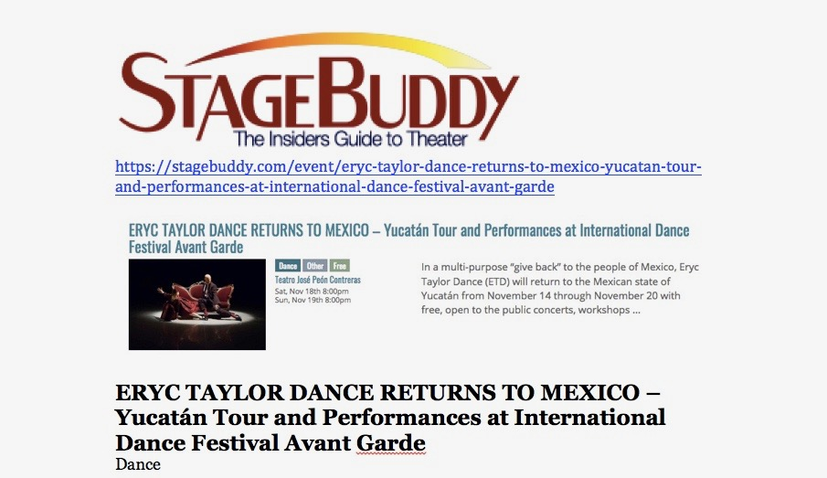 Eryc Taylor Dance Mexico Tour