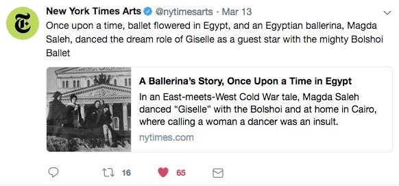 TWITTER -NY TIMES ARTS