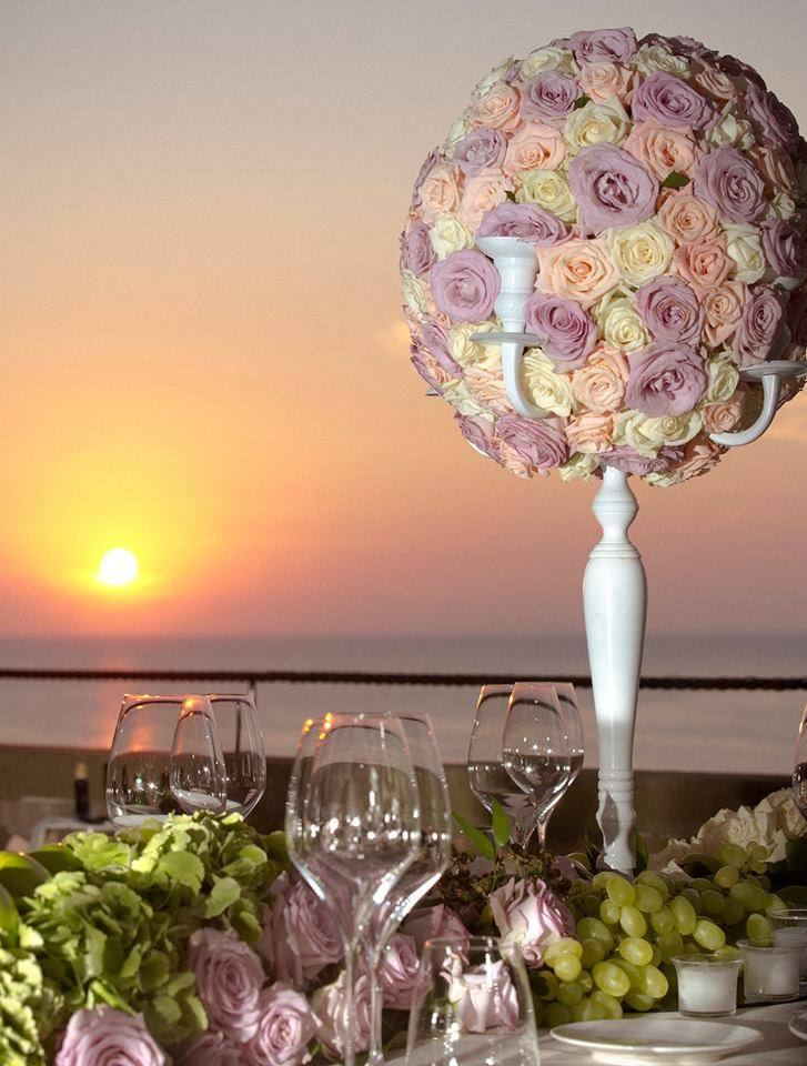 Sunset wedding in Sorrento