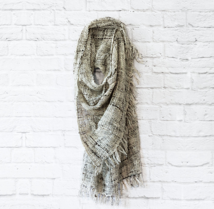 CREATIVE WOMEN open weave Kenya wool shawl