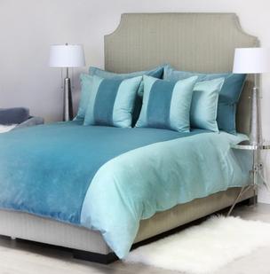 DanDANIEL STUART STUDIO Franklin Band bed linens - whirlpool