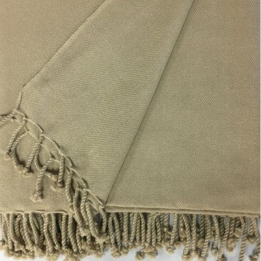 ANICHINI 2-Ply Twill cashmere throw