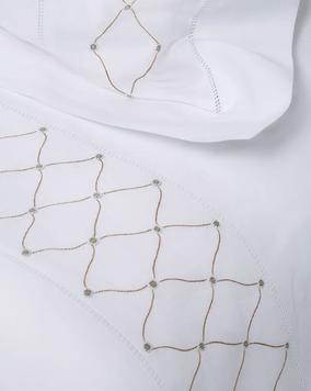 GAYLE WARWICK Angelica hand embroidered sheet set