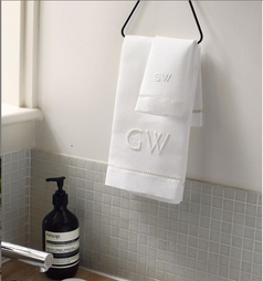 GAYLE WARWICK hand embroidered hand towel