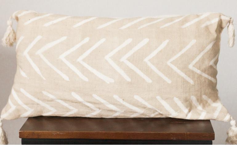 CREATIVE WOMEN Mud Cloth lumbar pillow