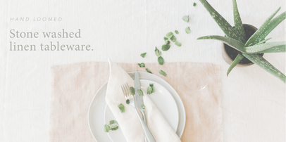 CREATIVE WOMEN stone washed table linens