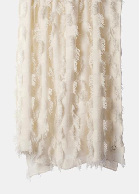 OYUNA cashmere ivory throw