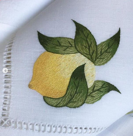 GAYLE WARWICK hand embroidered detail