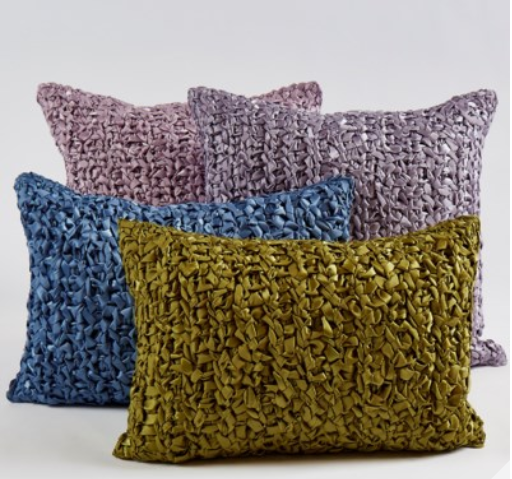 ANN GISH Hand Woven Silk accent pillows