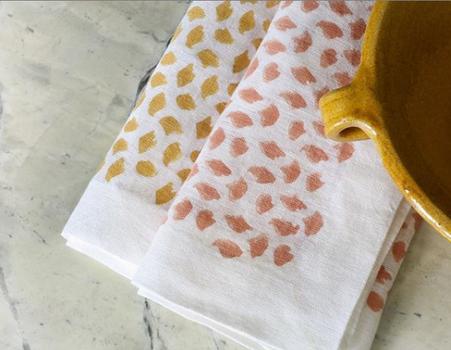 GAYLE WARWICK Confetti block print napkins