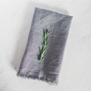 CREATIVE WOMEN grey stone washed napkin