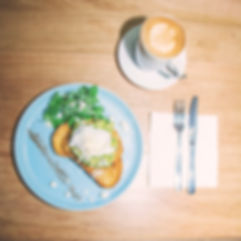 avo smash & coffee for breakfast
