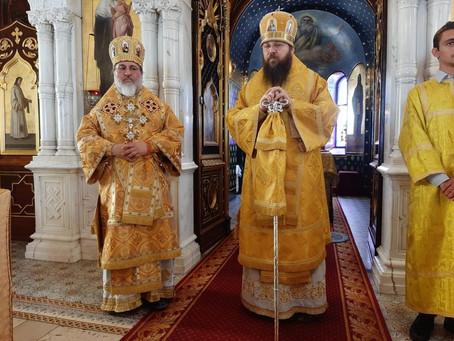Епископ Ириней возглавил богослужение и провел ежегодное приходское собрание в Женеве.