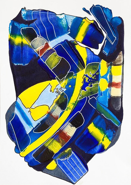 Untitled - April 21 (Blue and Yellow)