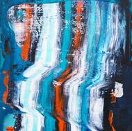 Energy Abstraction (Indigo Stripes)