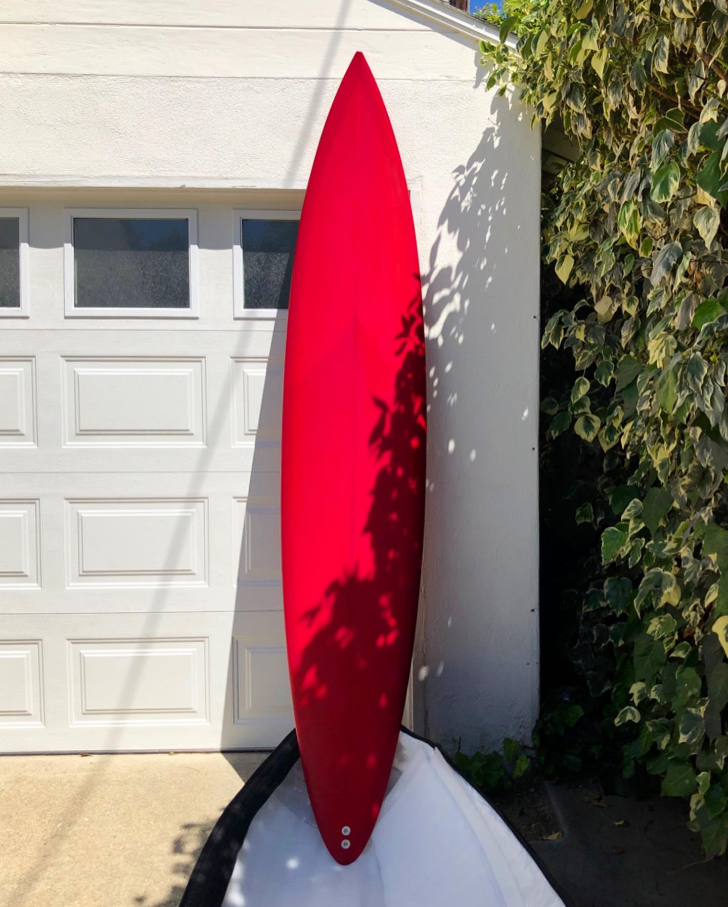 Before Photo of Hand-Painted Surfboard