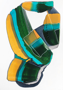 Untitled - April 15 (Yellow, Turquoise, Green)