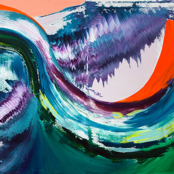 Untitled (Green Wave)
