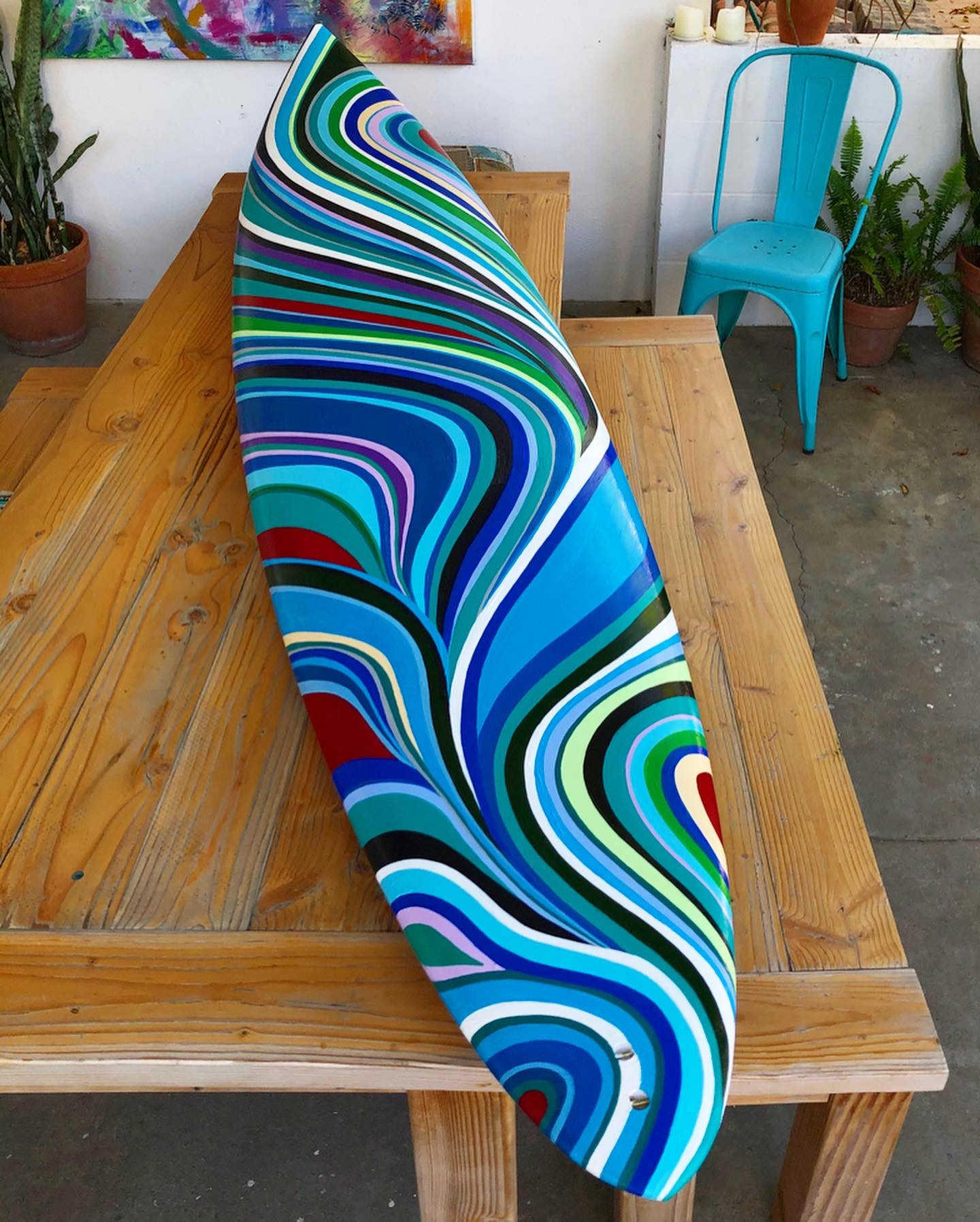 Hand-painted Commissioned Surfboard