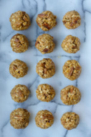 healthy maple pecan oat energy ball recipe