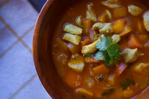 Healthy Chicken Curry Soup Recipe