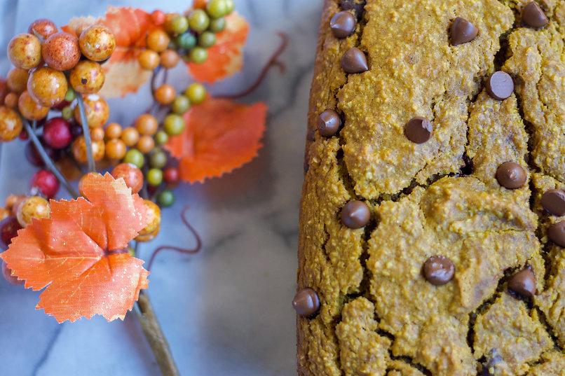 healthy chocolate chip pumpkin bread recipe