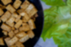 healthy tofu lettuce wraps with as asian slaw recipe vegan vegetarian gluten free