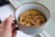 healthy quick pumpkin mug cake paleo recipe