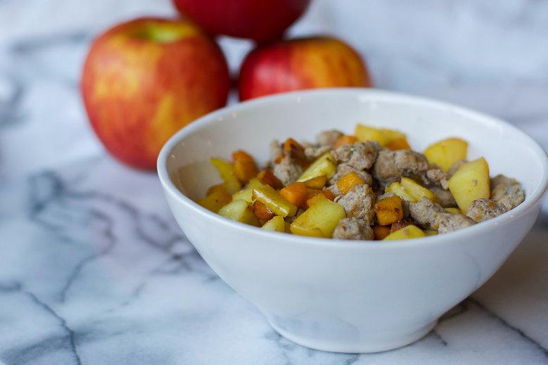 Healthy Turkey Sausage Apple Butternut Squash Hash Recipe