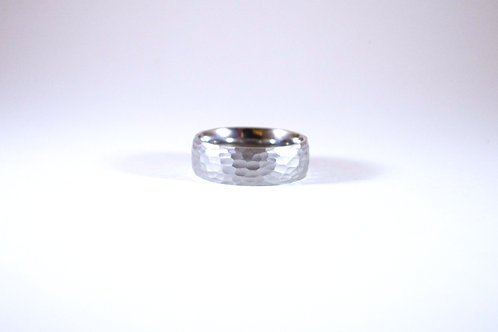 Tarnished Sterling Silver Wave Band-sz 9