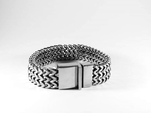 Stainless Steal Thick Weave Bracelet