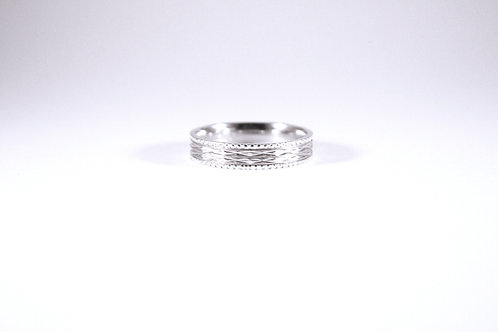 Diamond Cut Sterling Silver Band--sz 9